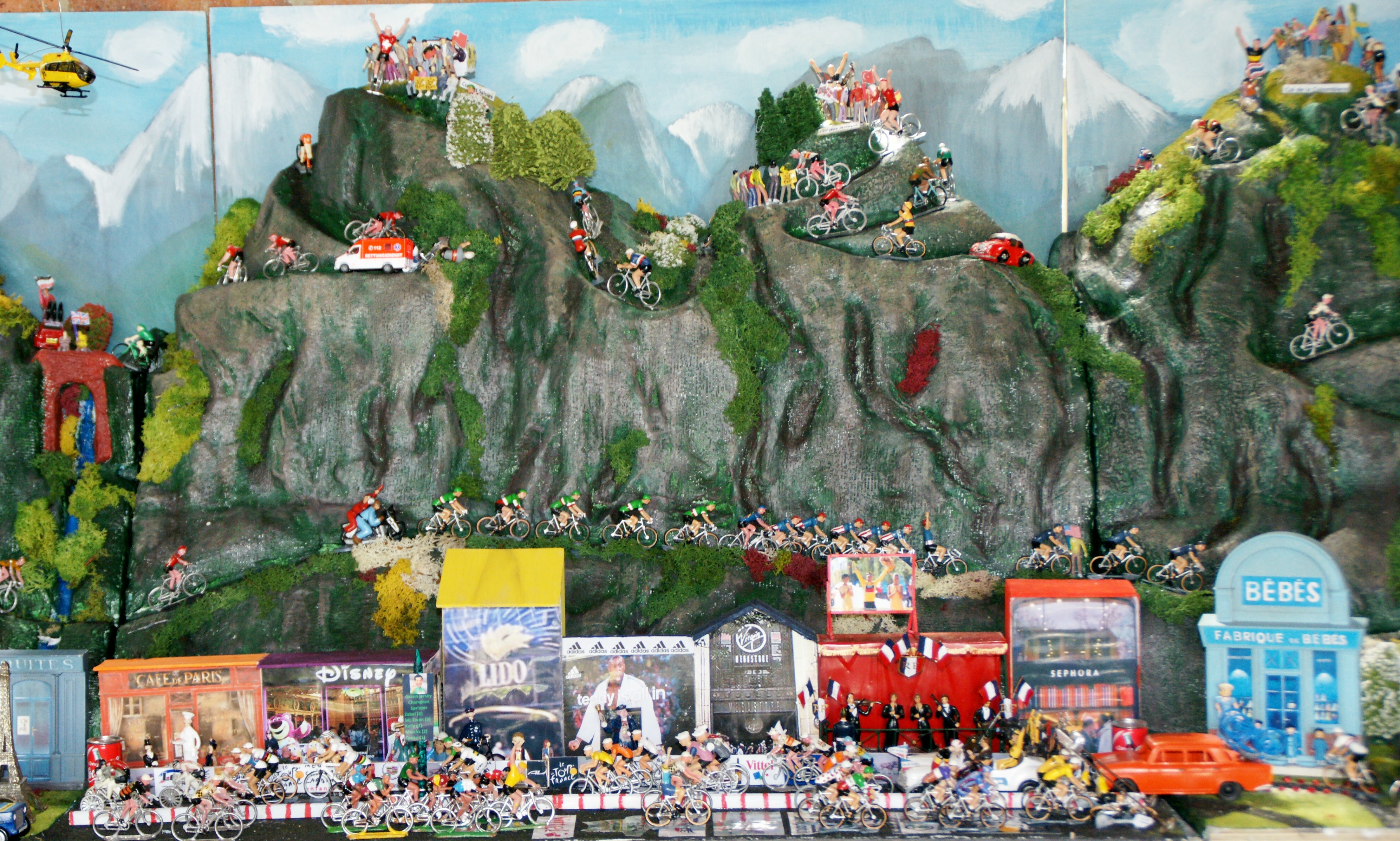 My tour de france with 150 miniature cyclistsminiature tour bel click to enlarge photos gumiabroncs Choice Image