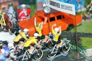 Tour de France miniature finish line