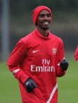 Mo Farah on trial at Arsenal
